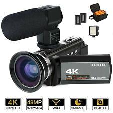 ACTITOP 4K Camcorder, Video Camera 48mp Full HD 1080P Wifi IR Night Vision 16x +