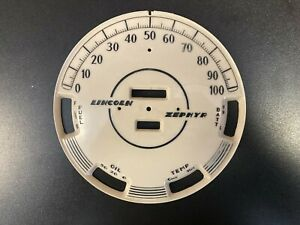 1939 Lincoln Zephyr  used Speedometer face plate