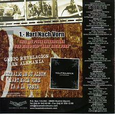 "SILVERSURFER ""HART NACH VORN"" RARE SPANISH PROMO CD SINGLE / LOCOMOTIVE RECORDS"