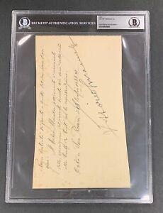 4860 Victor Emmanuel III Signed Cut AUTO Autograph Beckett BGS BAS