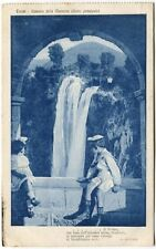 1919 Terni cascata Marmore getto principale bambini Tarvisio FP B/N VG ANIM