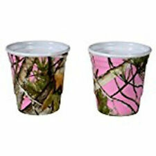 Havercamp Next Pink Camo Vista Camouflage Melamine Party Shot Glass Cup 2-pack