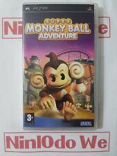 SUPER MONKEY BALL ADVENTURE - (Sony PSP GIOCO) - COMPLETO-sapientemente Ristrutturato