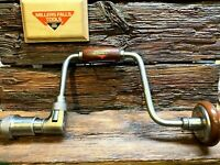 """Millers Falls  771   12"""" Hand Brace   Excellent Operating & Cosmetic Condition"""