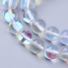 Edelstein Mondstein Perlen Aura Irisierend 6mm Crystal Kugel Schmuckstein G159