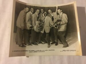 """""""LOUIS JORDAN"""" ORCH/BAND BOOKING AGENCY PUBLICITY 8 X 10 GLOSSY 1950's PHOTO"""