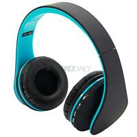 Wireless Bluetooth Headset Stereo Headphones Earphone With Mic For Cell Phone PC