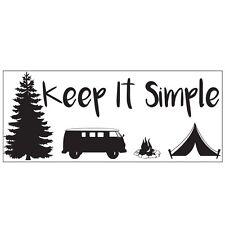 Mantenerlo semplice Campeggio Camper Van Auto Adesivo Vinile Decalcomania