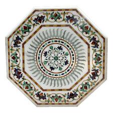 "36"" Center Marble Table Top PietraDura Inlay Handmade Work Home Decor"