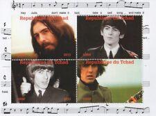 Beatles George Harrison Hey Jude Republique du Tchad 2013 estampillada sin montar o nunca montada SELLO Sheetlet