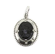 Cai Anhänger - 925er Silber - Gemme aus schwarzem Glas - Clipöse