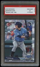 BRANDON LOWE 2019 BOWMAN #98 Topps 1ST GRADED 10 ROOKIE CARD RC TAMPA BAY RAYS