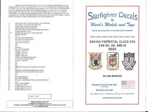 Starfighter Uss Forrestal Classe Cva Signalisations (1950s) Stickers 1/540 -104