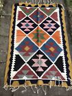 Vintage Middle Eastern? Hand Woven Kilim Rug Throw Wall Hanging 1.6x1m