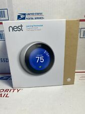 Nest Learning Thermostat - 3rd Generation - Stainless Steel T3007ES (USED)