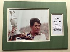 """Golf Lee Trevino Signed 16"""" X 12"""" Double Mounted Display"""