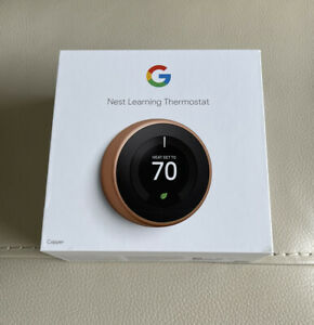 Google - Nest Learning Smart Thermostat - 3rd Generation - Copper T3021US