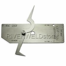 V-Wac Gage Biting Edge Single Welding Gauge Welder Inspection Inch stainless