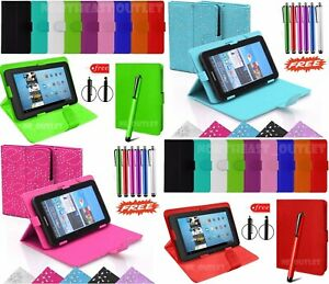 """PU Leather Book Flip Case Cover for 10.1"""" Inch Lenovo A10-70 A7600 Tablet + Pen"""