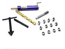 US Stock Thread Repair Tool Kit M7 x 1 Drill Tap Extraction Removal & 12 Inserts