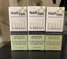 Lot Of 3 !! Nailtek Nail Nutritionist Keratin Nail Treatment Oil 14ml / 0.5 oz