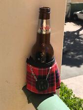 Fraser Red Tartan Plaid Beer Bottle Koozie Mini Kilt  Christams Gift