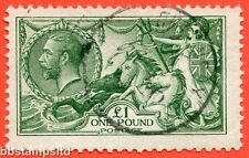 SG. 403. N72 (1). £1.00 green. A very fine CDS used example.