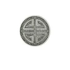 1x CHUNK Click Button Ornament Labyrinth silber Druckknöpfe - Noosa kompatibel