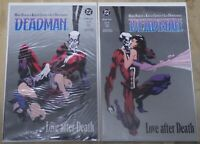 "2 1989 DC ""DEADMAN"" Comics Book One & Two Bagged & Boarded"