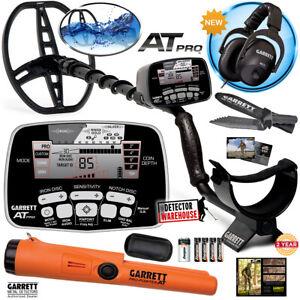 Garrett AT Pro Metal Detector with MS-2 Headphones, Pro-Pointer AT, Edge Digger