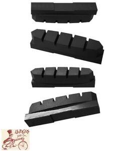 KOOL-STOP SHIMANO MC70 DEERHEAD BLACK BRAKE PAD INSERTS-SET OF 4