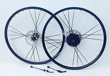 26 INCH MOUNTAIN BIKE  ALLOY WHEELS 8 SPEED FREEWHEEL COLOUR SPOKES BRAND NEW