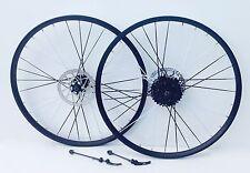 26 Pollici Cerchi In Lega Mountain Bike 8 velocità ruota libera colore RAGGI NUOVO di zecca