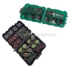 Carp Fishing Tackle Kit Box Weights/Clips/Beads/Hooks/Tubes/Swivels/Rigs Set