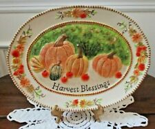 Harvest Blessing Thanksgiving decorative china plate