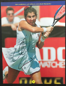 Monica Seles - American WTA Tennis Player - Signed 8x10 photo - autograph