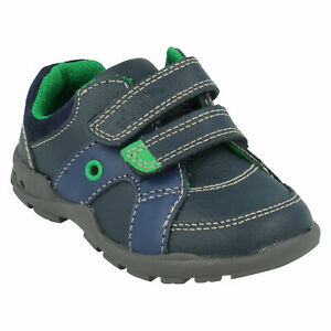 BOYS CLARKS FLASH POP INFANT HOOK & LOOP CASUAL SHOES TODDLER FIRST TRAINER SIZE