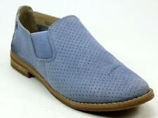 WOMENS HUSH PUPPIES ANALISE CLEVER BLUE SUEDE SLIP ON FLATS BOOTS SHOES SIZE 5