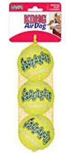 "Kong SQUEAKAIR Dog TENNIS BALLS - (1) 3 ct MEDIUM 2.5"" (3 ct or Individual)"