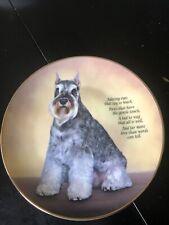 Danbury Mint Miniature Schnauzer Adoring Eyes Collector Plate Vgc