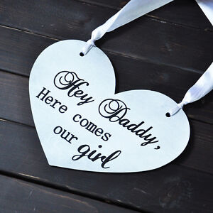 Personalized wedding signs custom Text Here Comes Our girl sign Gift For Her