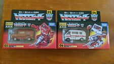Takara Transformers Encore Ironhide & Ratchet Rereleases. Complete, Used, In Box