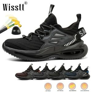 Mens Work Safety Indestructible Sports Waterproof Steel Toe Boots Shoes Trainers