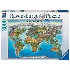 Ravensburger World Map Puzzle 2000 Piece Jigsaw Puzzle.