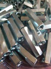 25 Hex Rod Coupling Nuts 14 20 X 1 34 Threaded Rod Connectors Zinc Usa