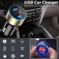 1x Dual 2Ports 3.1A USB Car Auto Cigarette Charger Lighter Digital LED Voltmeter