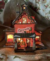 Christmas Village Porcelain Building Grocery Store Produce Market Walmart