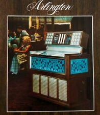 Rowe AMI Arlington Jukebox FLYER Model R-74 Original Phonograph Music Art 1975