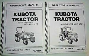 Kubota L3010 L3410 L3710 L4310 L4610 Tractor & Cab Operators Manuals OEM 6/02