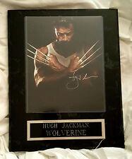 Wolverine Logan HUGH JACKMAN Autographed Signed WALL PLAQUE 15 x12 Photo W COA